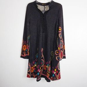 Reborn | Psychedelic Floral Sweater Dress XL